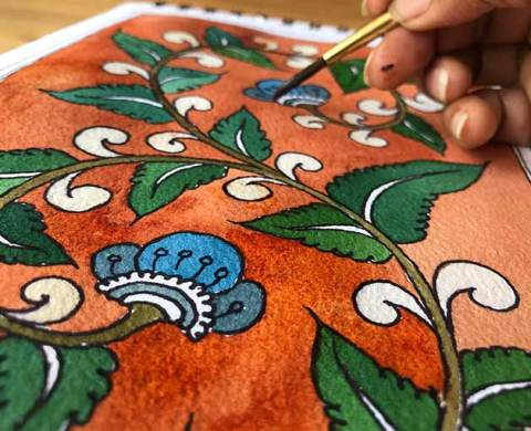 Learn-Kalamkari-Painting-online-with-indias-best-artists-Pencil-Tuts