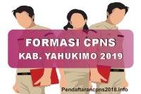 Formasi CPNS Kabupaten Yahukimo Tahun 2019