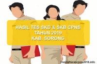 Hasil Tes SKD dan SKB CPNS Kabupaten Sorong 2019