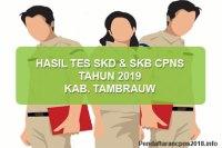 Hasil Tes SKD dan SKB CPNS Kabupaten Tambrauw 2019
