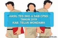 Hasil Tes SKD dan SKB CPNS Kabupaten Teluk Wondama 2019