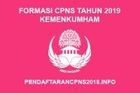 Formasi CPNS Kementerian Hukum dan Ham Tahun 2019