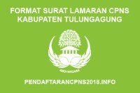 Format Surat Lamaran CPNS Kabupaten Tulungagung 2019
