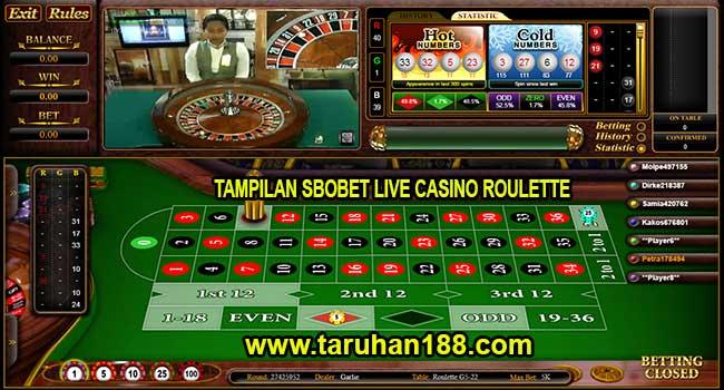 Tampilan Sbobet Live Casino Roulette