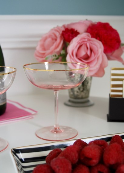 Pink Champagne Bowls for the Blush & Bashful: Champagne Cocktail