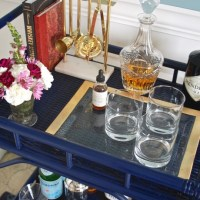 Rattan Bar Cart DIY: Inspired by Society Social