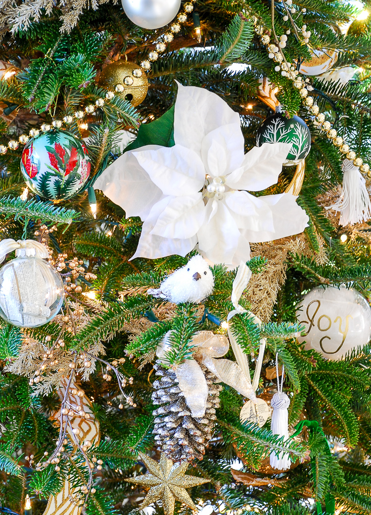Boughs Amp Blossoms My Green And Gold Christmas Living Room