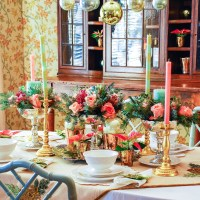 A Whimsical-Glam Christmas Table with Hoskins in the Flat