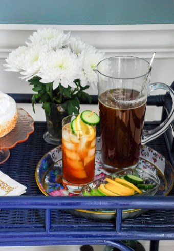 Savor the tastes of spring with a Pimm's & tea cocktail.