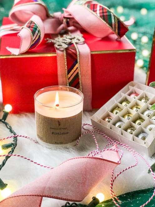 The perfect long-lasting candles from Feather & Pearl. Sure to delight as gifts this holiday season!
