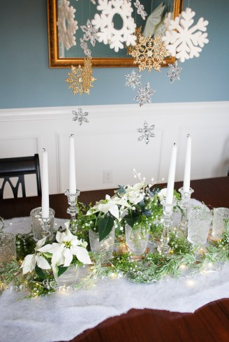 Winter tablescape tutorial - frosted forest
