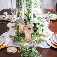 Frosted Forest - Winter Tablescape Tutorial
