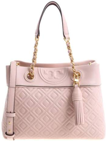 Quilted pink handbag