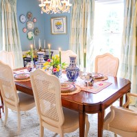Traditional Aqua Dining Room Reveal: Before & After