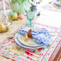 A Fresh Traditional Easter Tablescape with Spring Flowers