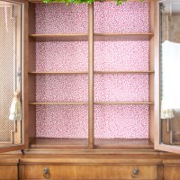 Update Your China Cabinet with Wallpaper - Easy Tutorial