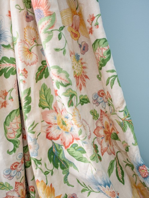 Raymond Waites Mikka floral curtain detail