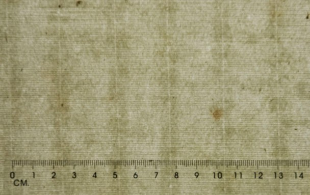 Example of laid paper with lines evident