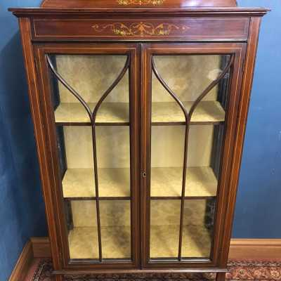 Edwardian Glass Display Cabinet 2 1 of 3