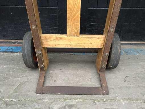 Rustic Wooden Sack Truck Trolley