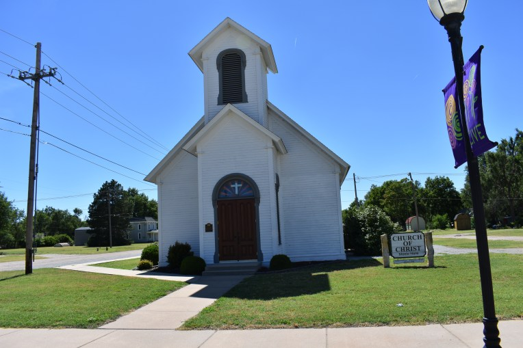 My mom's old church that is now a historical marker.