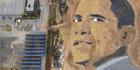 Photo Unik Obama dari Pasir