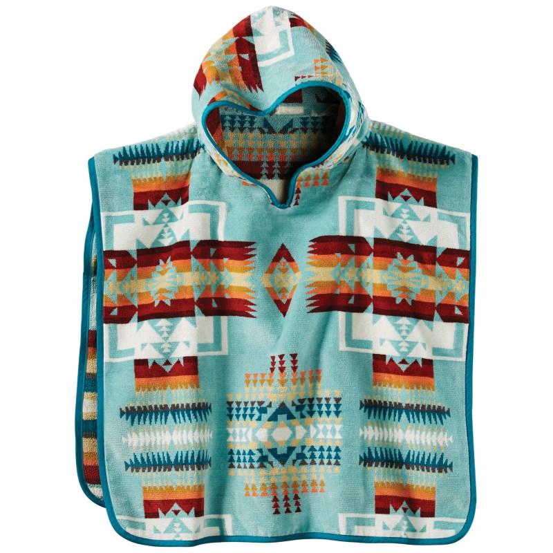 Kids Hooded Towel - Chief Joseph Aqua