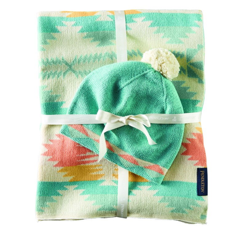Knit Baby Blanket and Hat Set - Falcon Cove