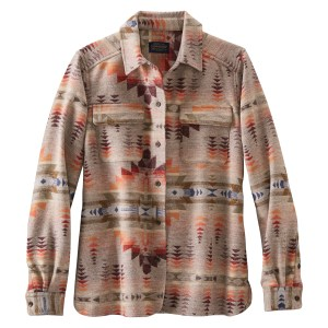 Pendleton Juniper Mesa Jacquard Board Shirt, in tans, oranges, reds, blues, browns and olive