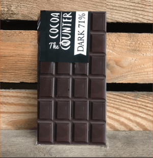 71% dark chocolate bar