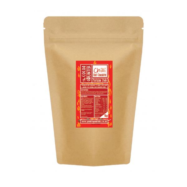 milk hot chocolate mixed with chilli powder