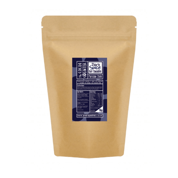 dark spice hot chocolate powder for catering