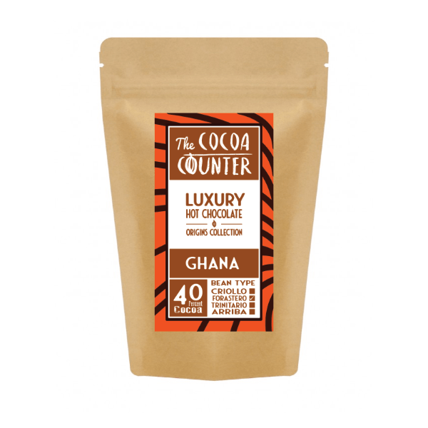 milk chocolate from Ghana in a 250g bag