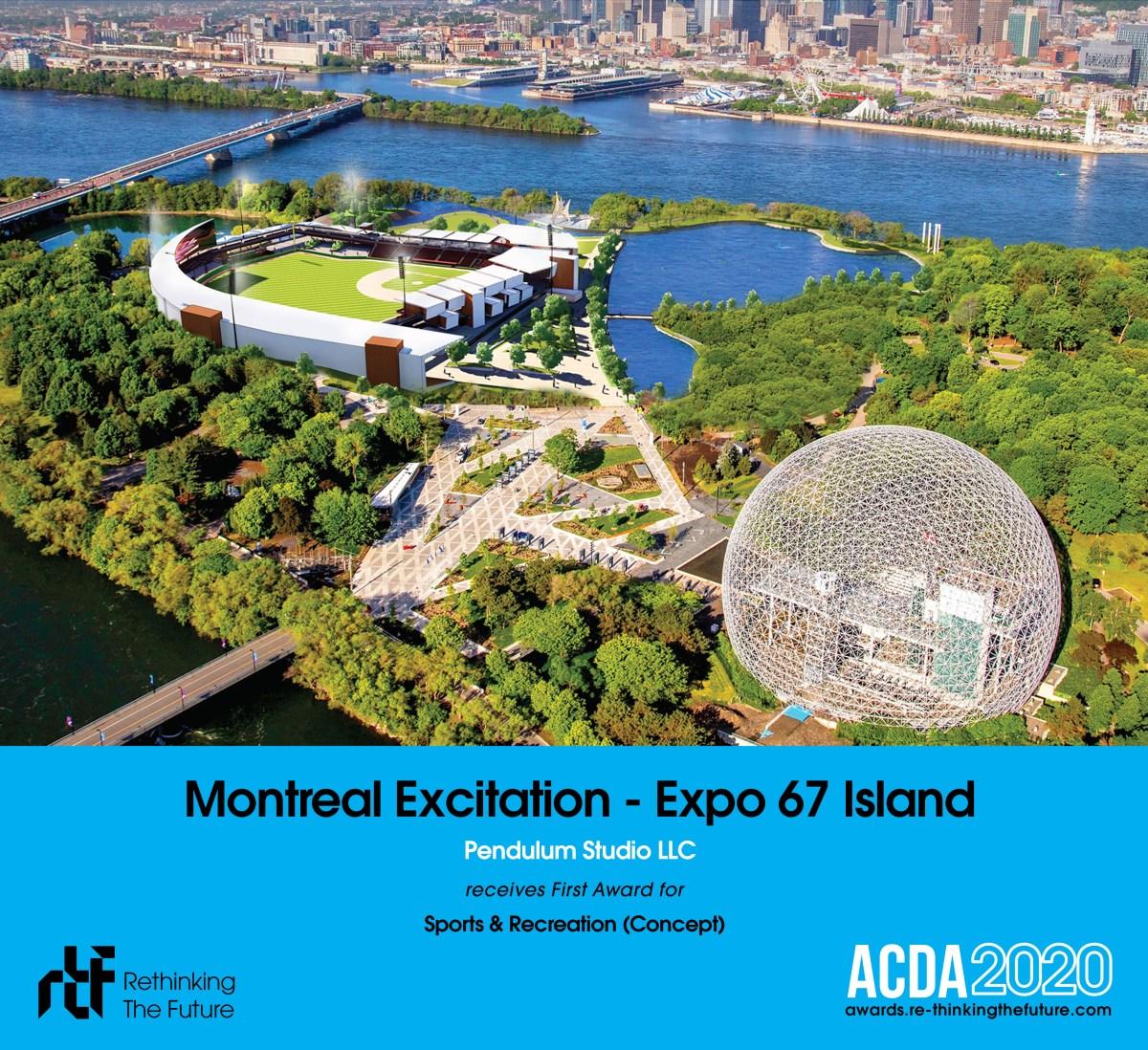 For Immediate Release – Pendulum's Montreal Excitation Concept Wins RTF 2020 International Design Award