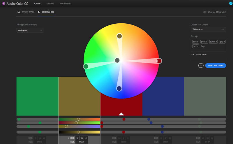 Adobe Colors is one of my favorite tools
