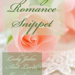 Regency Romance Snippet: Julia And Lord Lyneham