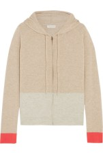 Chinti and Parker - Colour Block Cashmere Hooded Top $577