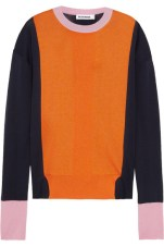 Jil Sander - Colour-Block Silk, Cotton and Cashmere - Blend Sweater $937