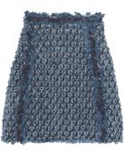 Sonia Rykiel - Frayed Laser-Cut Denim Mini Skirt $794