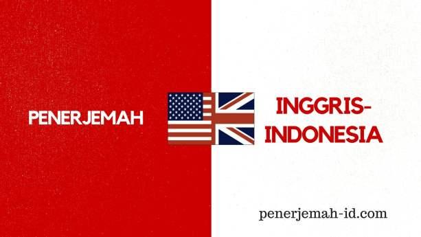 terjemahan inggris indonesia