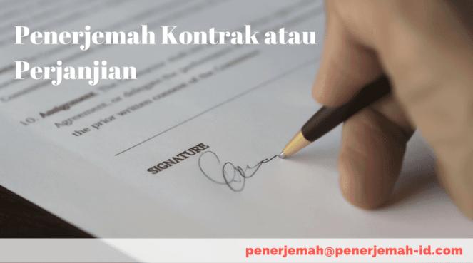 jasa penerjemah tersumpah kontrak atau perjanjian