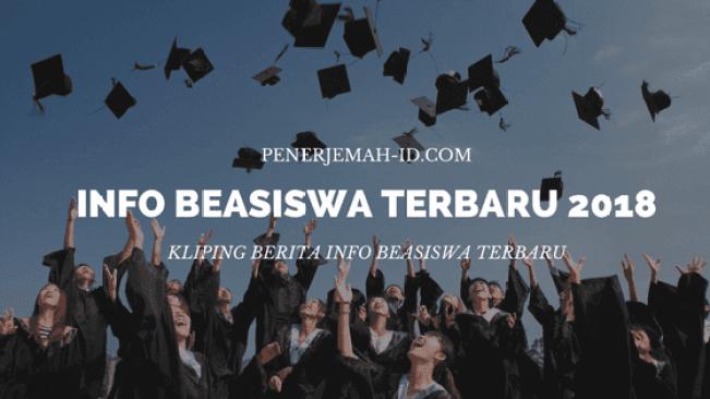 info beasiswa 2018