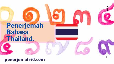jasa penerjemah bahasa thailand ke indonesia