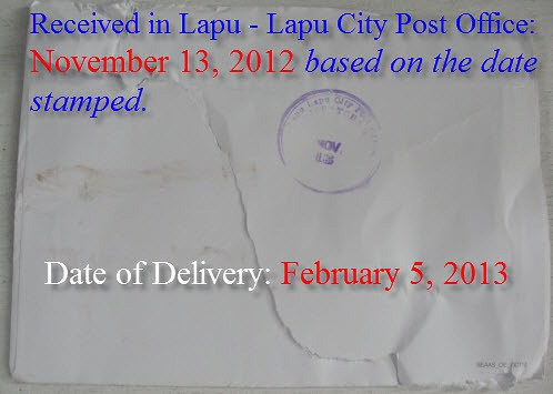 Lapu – Lapu City Post Office Disappointing Service: EPIC FAIL!