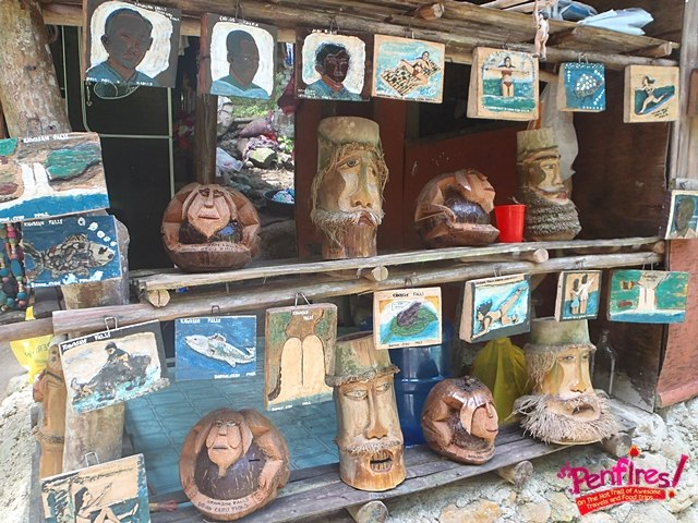 Bamboo carvings Kawasan Souvenirs