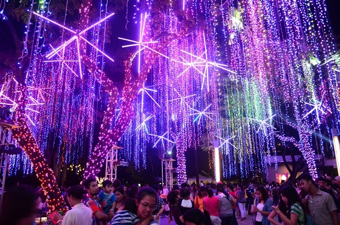 Ayala Triangle Gardens  Christmas 2014 Lights and Sound Show