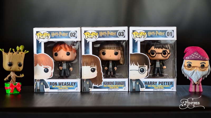 Funko Pop Groot and Harry Potter Characters