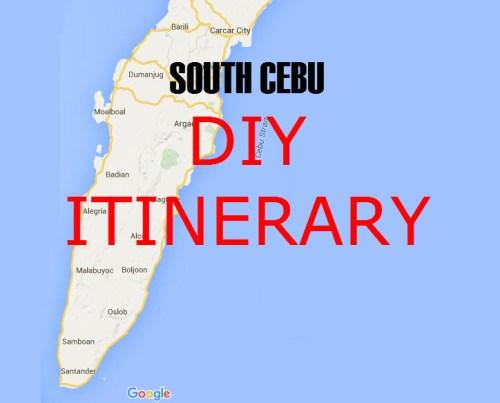 South Cebu Do It Yourself Itinerary