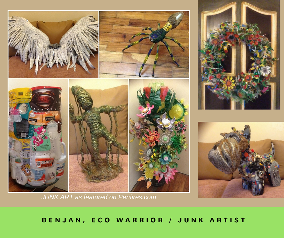 BenJan, eco warrior and junk artist