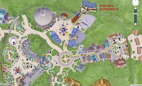 Iron Man Experience Hong Kong Disneyland Location Map